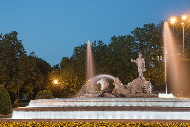 Neptune Fountain in Madrid