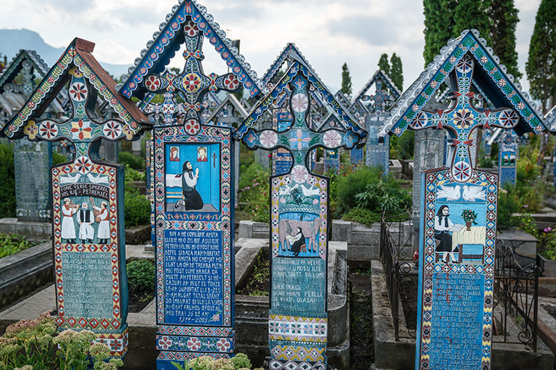 Four Cemetery Crosses