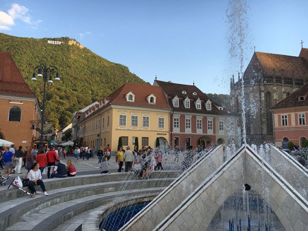 Large Open Squares of Brasov