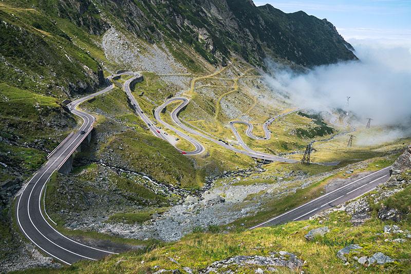 Transfagarasan Highway Fog