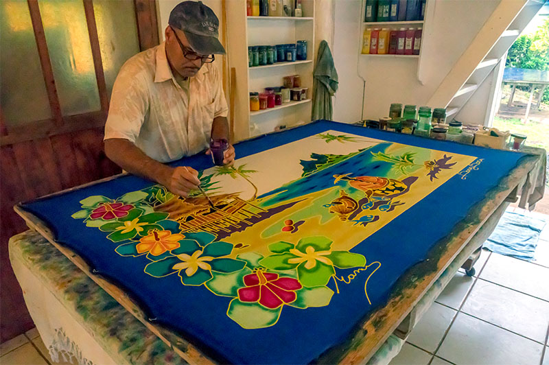 Bora Bora Silk Painter