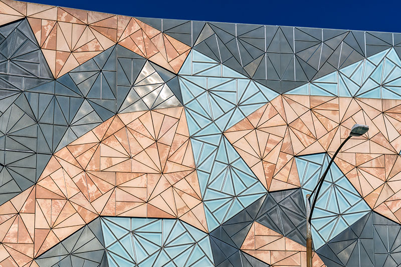 Triangles at Federation Square