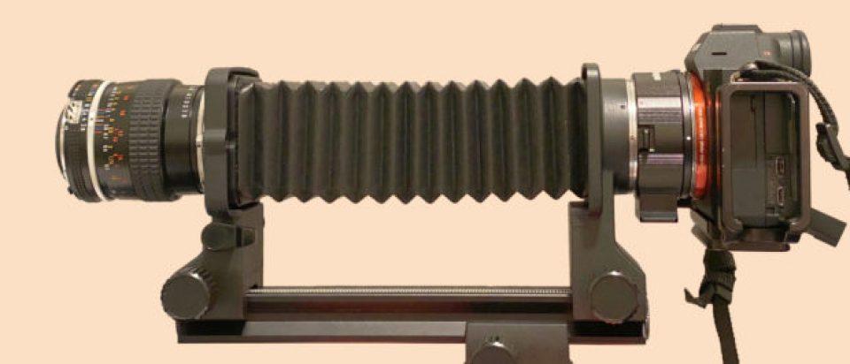 55mm bellows set-up