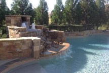 hardscaped Pool