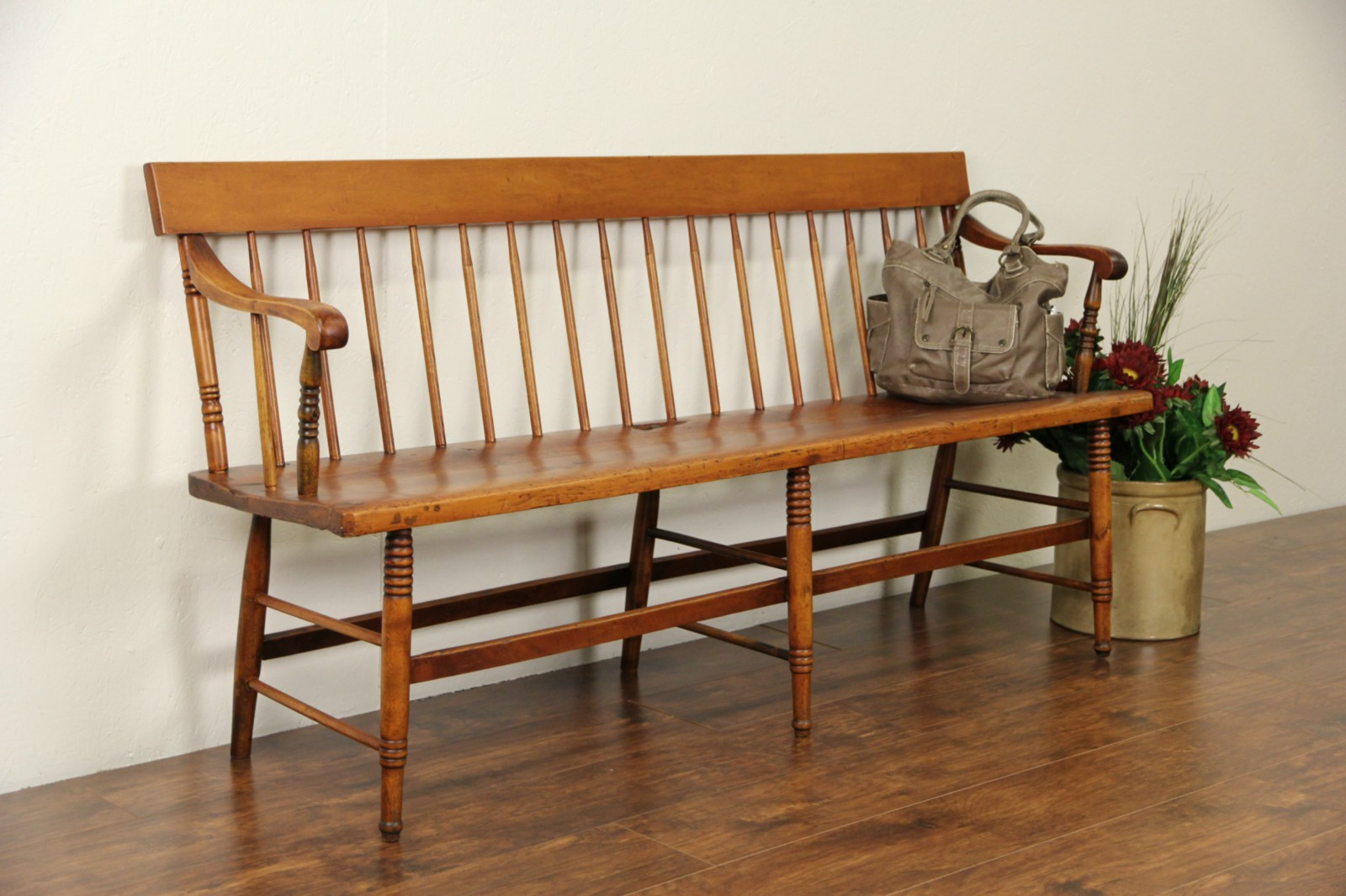 Sold Country Pine 1860 S Antique Hall Or Deacon Bench