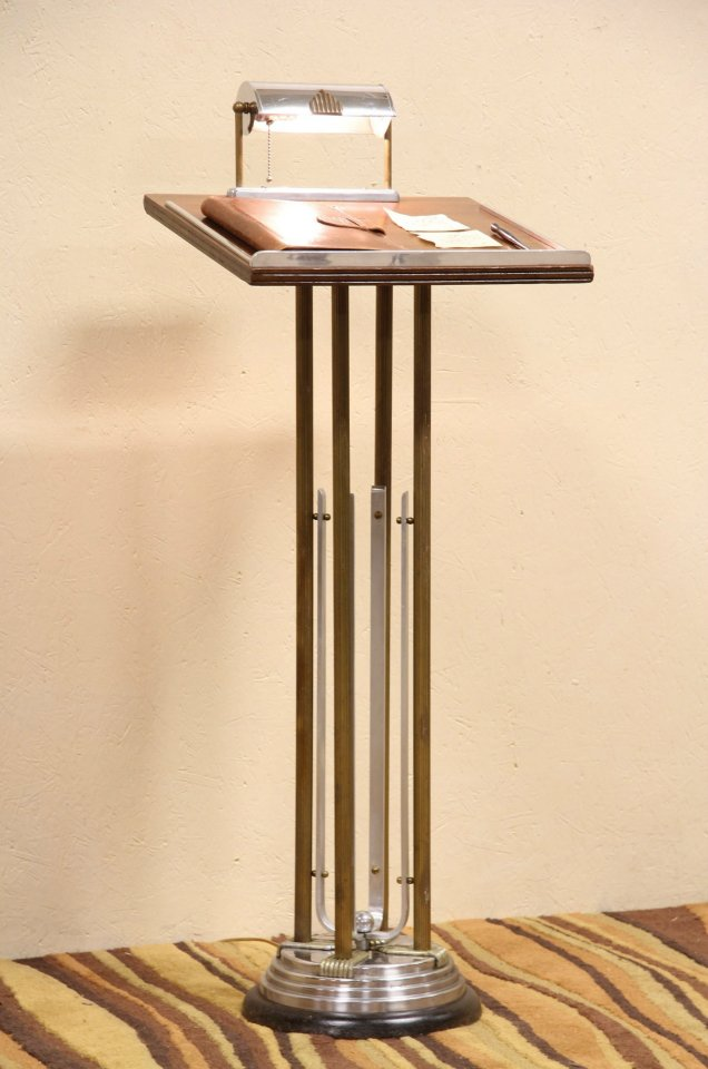 Sold Art Deco 1930 S Lectern Podium Or Reception Stand