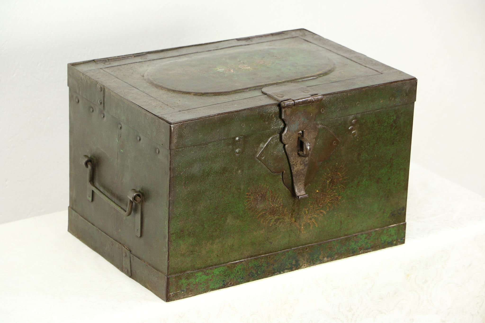 SOLD Victorian 1850s Antique Iron Railroad Strong Box