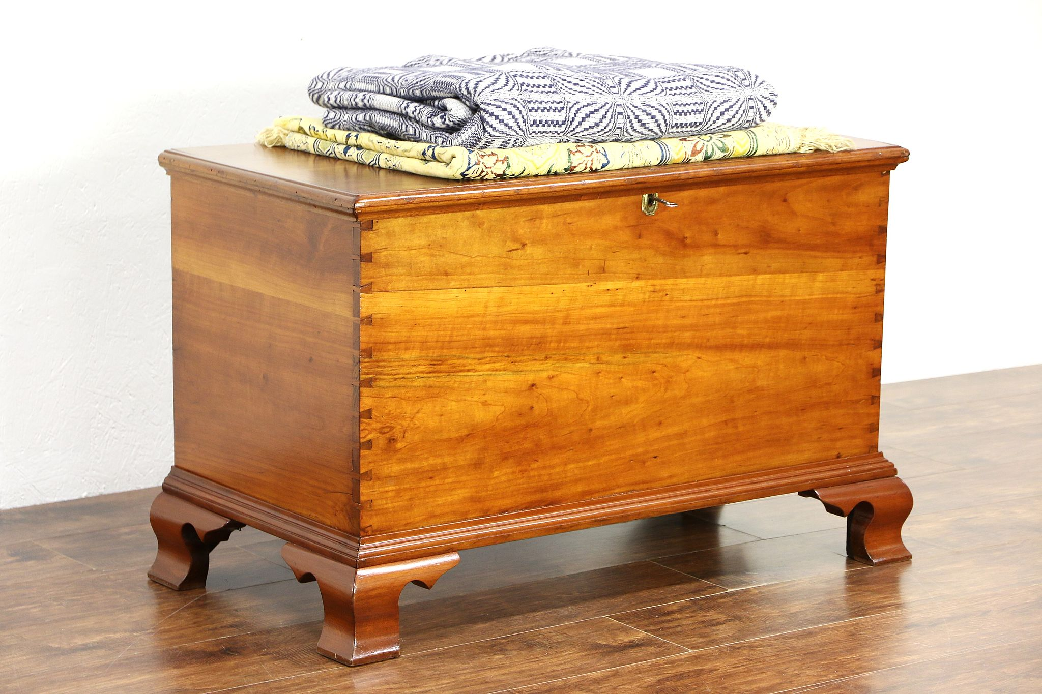 Sold Cherry Antique 1825 New England Trunk Blanket Chest