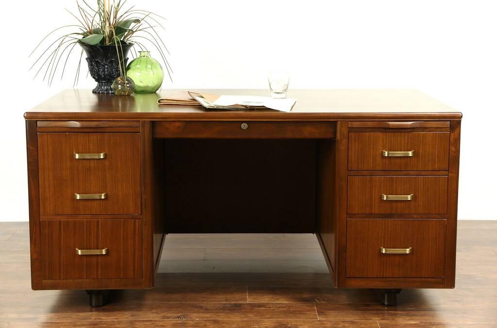 SOLD Midcentury Modern 1950s Vintage Executive Desk