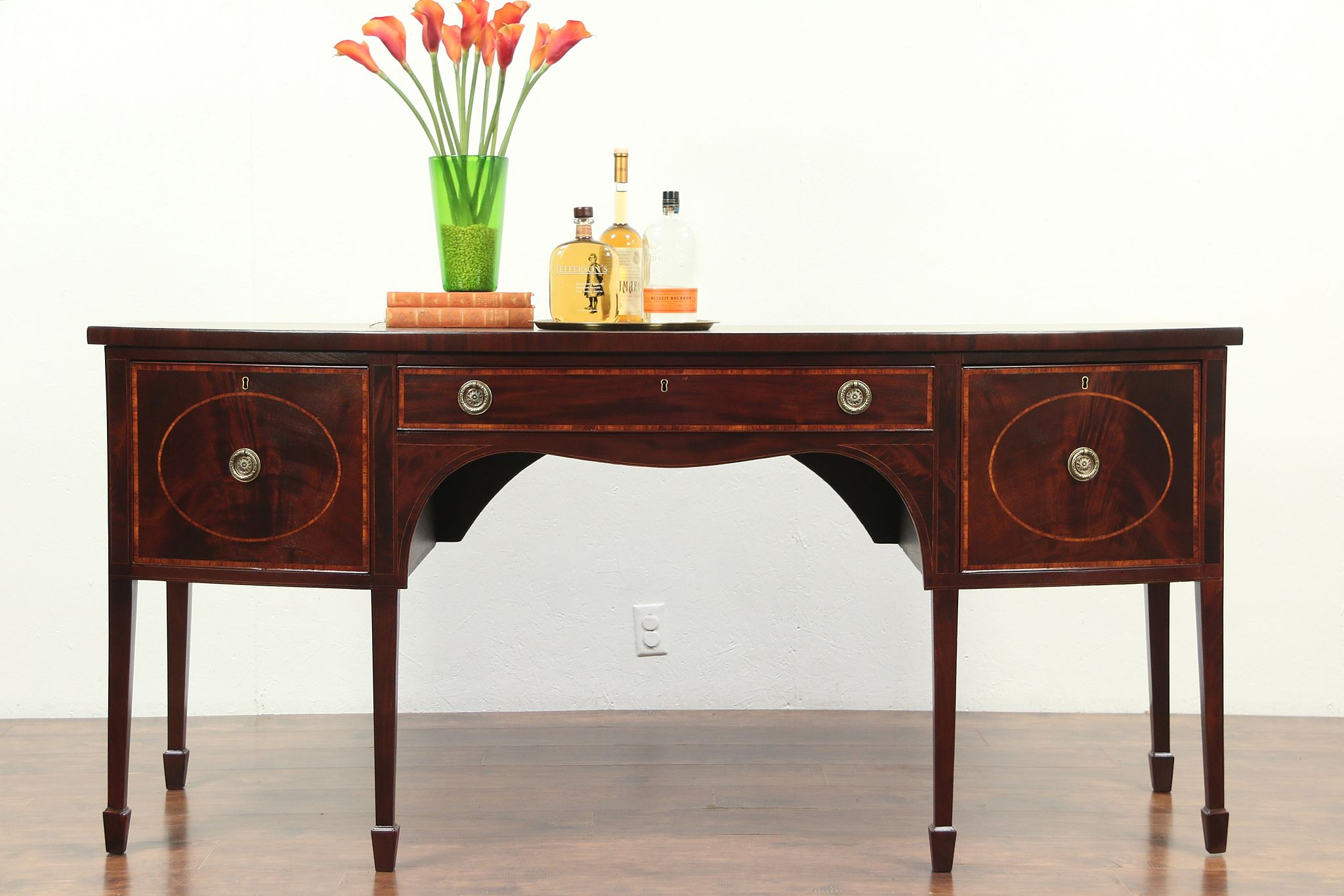 Sold Hepplewhite 1790 Antique Mahogany Sideboard Server Buffet Wine Drawer 28984 Harp Gallery Antiques Furniture