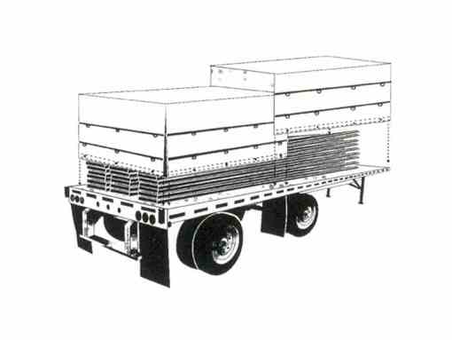 """""""Domestic"""" Black Flatbed Tarp Heavy Duty 4' Drop 16' x 26' with End Flap-341"""