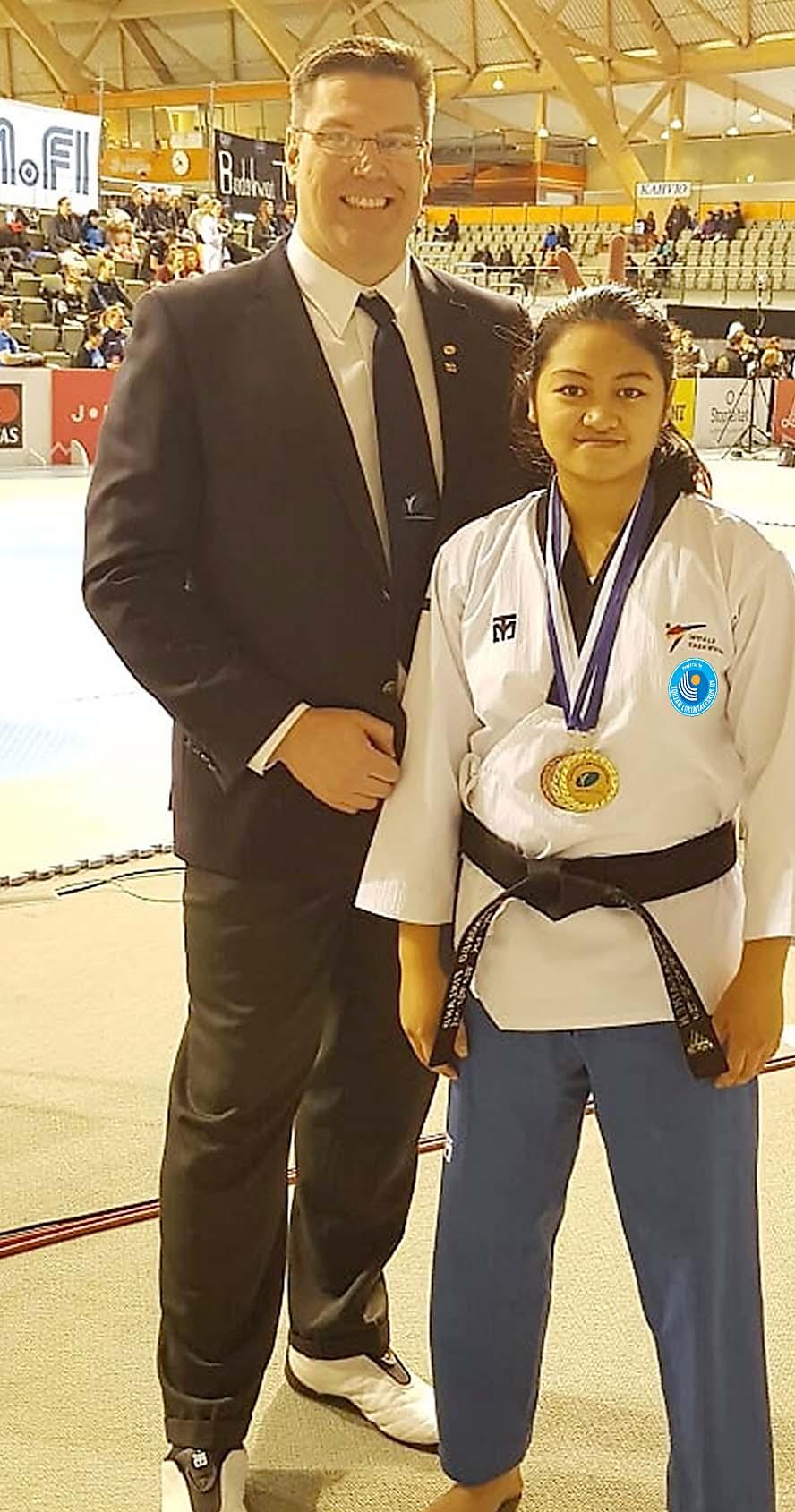 Lohjalaiset tytöt toivat kaksi Suomenmestaruutta Taekwondon SM-kilpailuista 1.2.