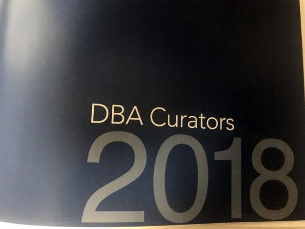 DBA Curator 2018