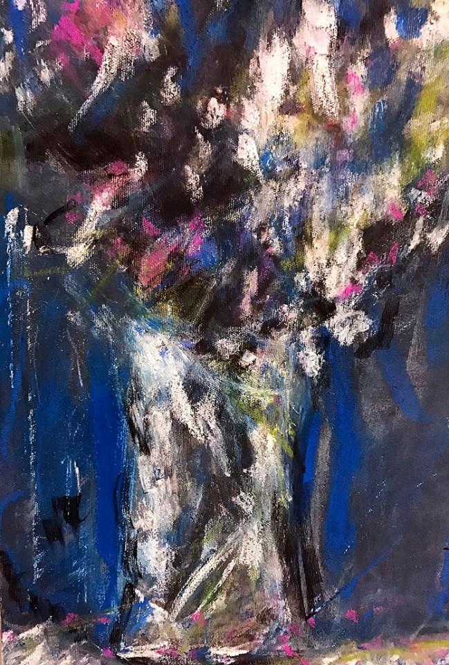 Blue & Pink Still Life No 2
