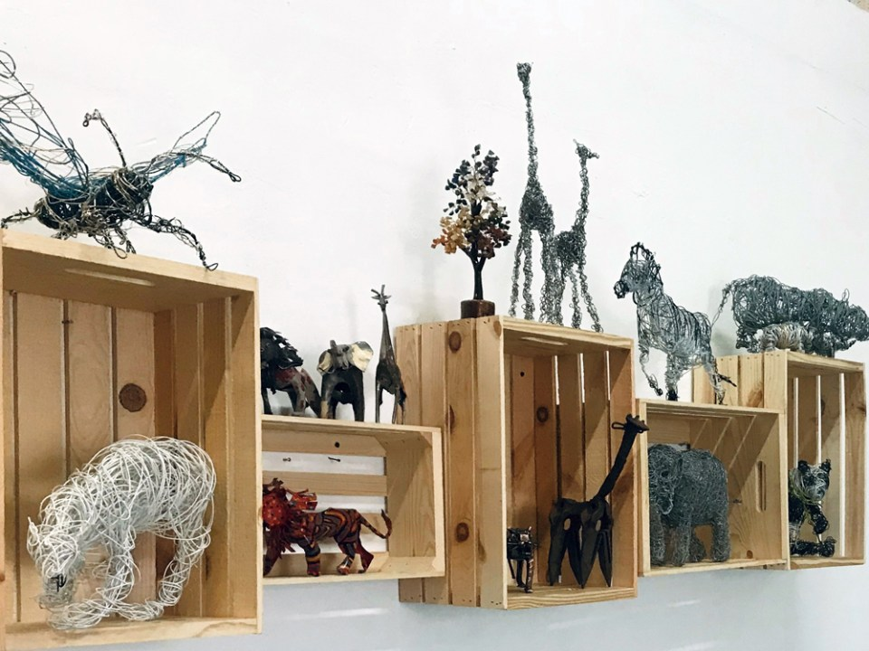 Critically Endangered Animals Sculpture Installation