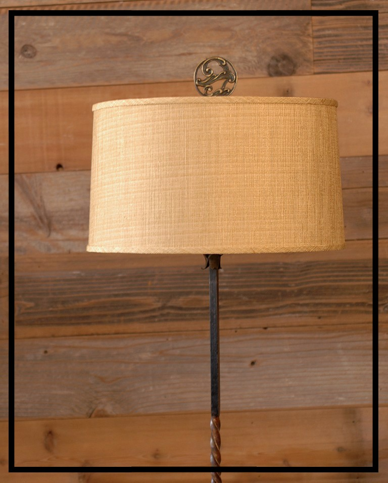 Gold tussa silk lamp shade