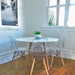 dining chairs and table and decor