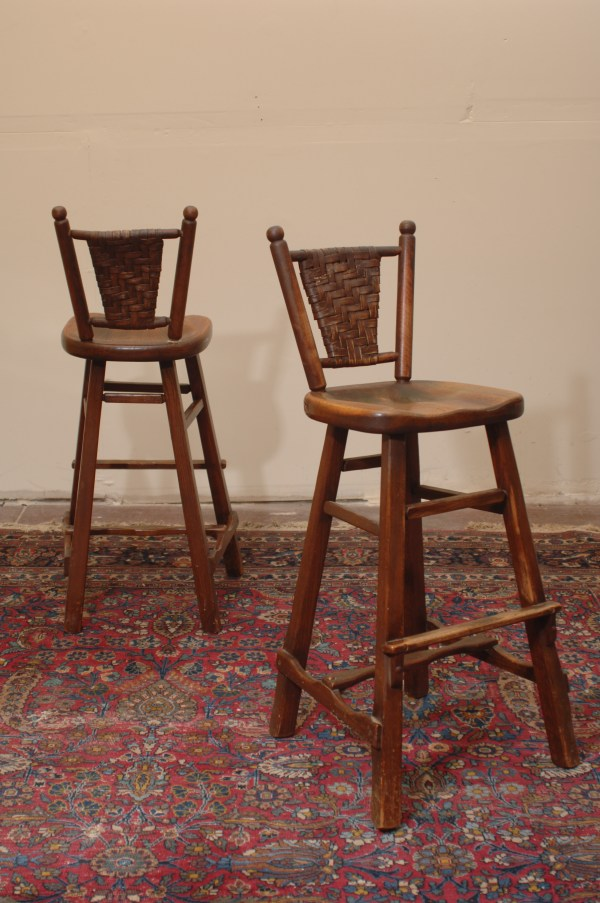 Antique Arts And Crafts Rancho Monterey Bar Stools