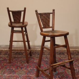 Vintage Arts and Crafts Bars Stools