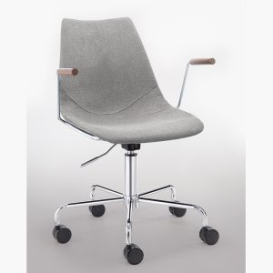 grey adjustable rolling office chair