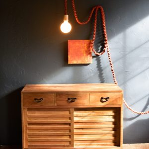 Wood mid century modern style table