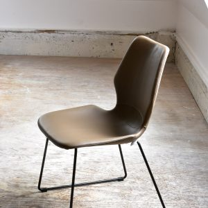 Mid century modern style leather chair