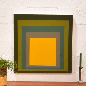 Square Painting with Yellow Center