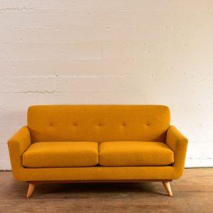 Yellow Sofa Condo Sofa in a U shape