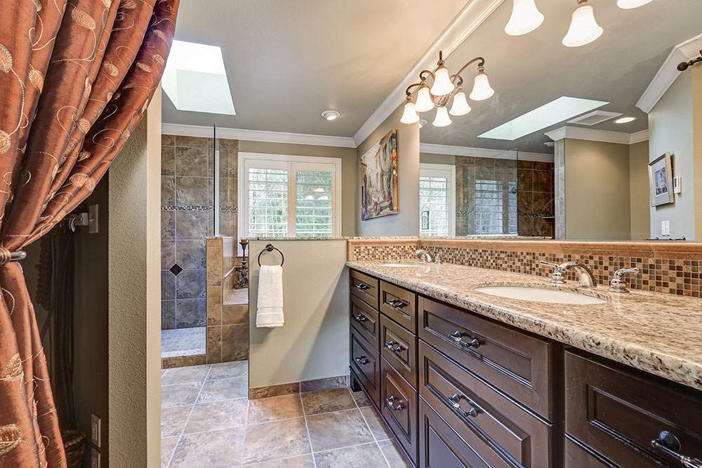 Adding a skylight to your bathroom to increase natural light
