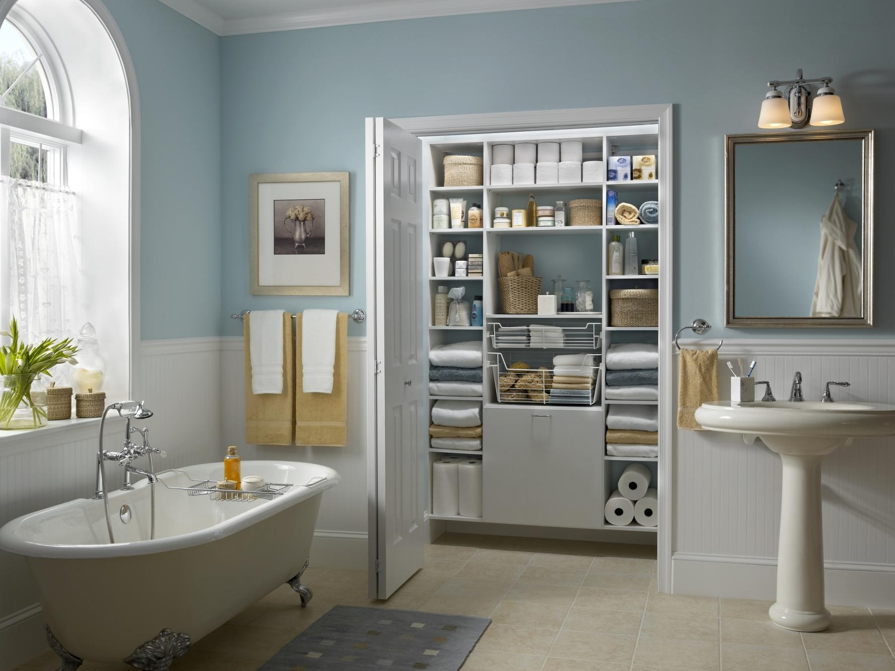 closetmaid bathroom organization system