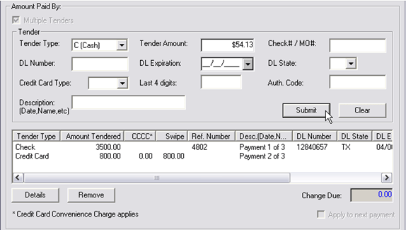 Payment Processing, Post Statement, 8110x, bottom 03