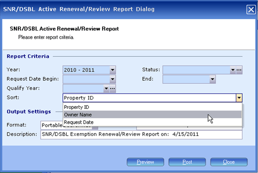 Exemption Processing, Generate Renewal Review, 9033x