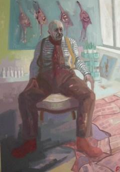 'Autoportrait en Studio' by M. Harrison-Priestman - oil on linen, 100 x 70 cm, 2017.