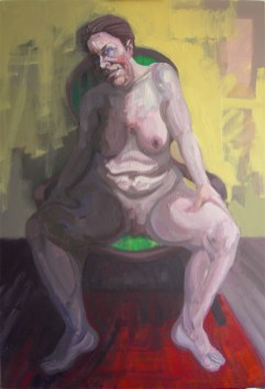 'Femme Assise' by M. Harrison-Priestman - acrylic on linen, 80 x 55cm, 2107.