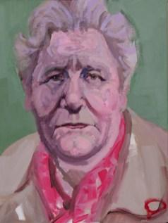 'Portrait de Gertrude - en mémoire' by M. Harrison-Priestman - acrylic on linen, 40 x 30 cm, 2019.