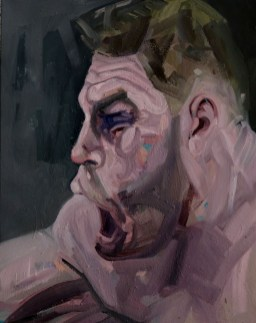 'Le Boxeur no:3' by M. Harrison-Priestman - oil on linen, 50 x 60 cm, 201