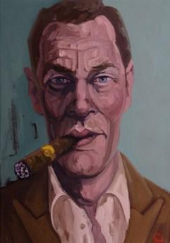'Le milliardaire fumeur de cigares no:8' by M. Harrison-Priestman - 50 x 40 cm, 2014 - 19.