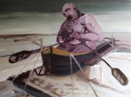 'Naufrage à marée basse' by M. Harrison-Priestman - oil on linen, 45 x 60 cm, 2019.