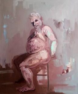 Étude de Bacchus' by M. Harrison-Priestman - oil on linen, 60 x 50 cm, 2016 - 20.