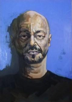 'Portre of Akram Khan' by M. Harrison-Priestman - 60 x 40 cm, 2020.
