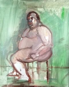 'Étude Bacchus' by M. Harrison-Priestman - acrylic on cnavas 45 x35 cm, 2020.