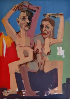 'Les danseurs espagnols - Olé' by M. Harrison-Priestman - acrylic on canvas, 50 x 35 cm, 2020.
