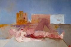 'Femme comme paysage' by M. Harrison-Priestman - oil on linen, 40 x 60 cm, 2020.