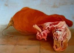 'Taureau sacrificial no:2' by M. Harrison-Priestman - oil on linen, 60 x 80 cm, 2013.