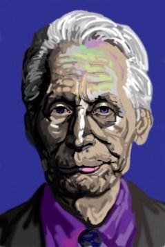 Digital portrait illustration by M. Harrison-Priestman using my finger on my laptop by M. Harrison-Priestman - 2021.