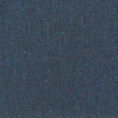 100 Wool Tweed Fabric Mix Blue Black Donegal Fleck Made In