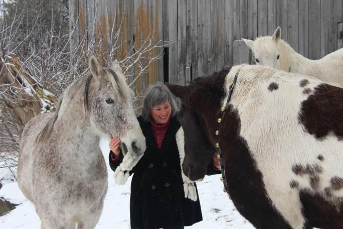Connie & horses