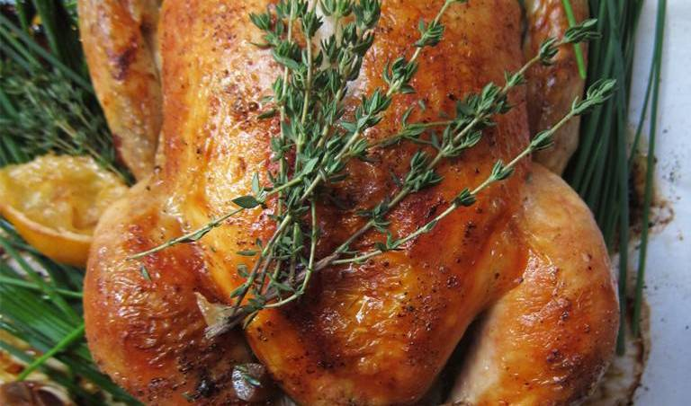Classic Quick-Brined Roast Chicken