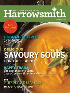 Harrowsmith Magazine cover, Winter 2017