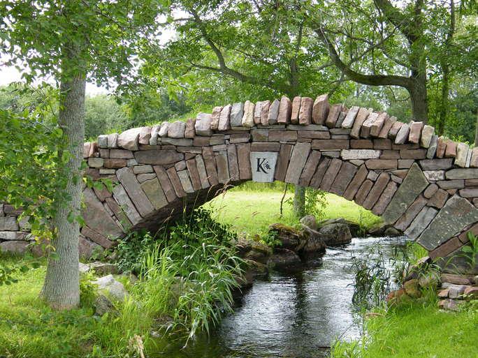 Drystone bridge at Karlo Estates, Prince Edward County, Ontario.